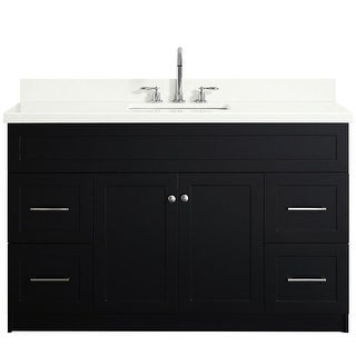 """Ariel F055S-WQ-VO  Hamlet 54"""" Single Vanity Set with Hardwood Plywood Cabinet and Stone Vanity Top with Single Basin Sink"""