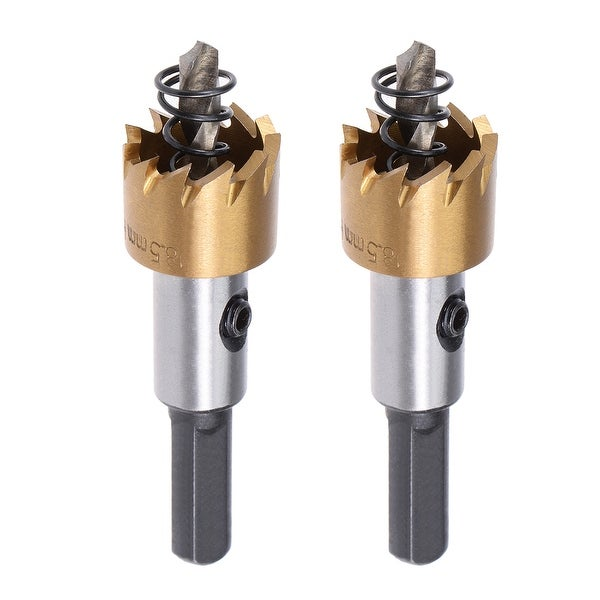 2 Pcs 18.5mm HSS Drill Bit Hole Saw Stainless High Speed Steel Metal Alloy - 18.5mm,2 Pcs