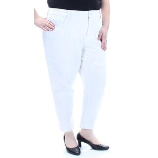 SEVEN7 $89 Womens New 1758 White Straight leg Casual Short 22W Plus B+B
