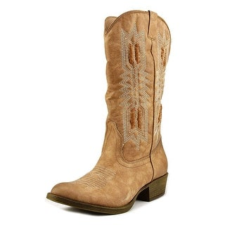 Coconuts By Matisse Chief Women  Round Toe Canvas Nude Western Boot