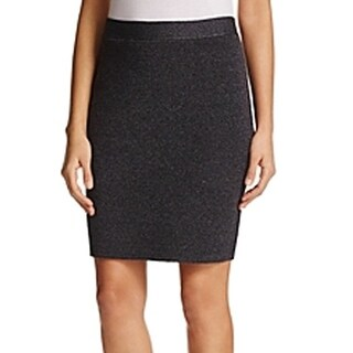 Eileen Fisher NEW Gray Womens Size Large PL Petite Stretch Knit Skirt