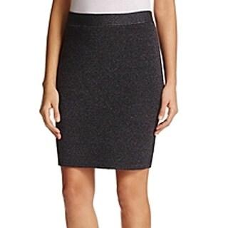 Eileen Fisher NEW Gray Womens Size Medium PM Petite Stretch Knit Skirt
