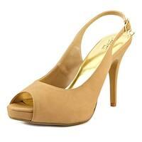 Thalia Sodi Camiila Women Open-Toe Leather Tan Mary Janes - 10