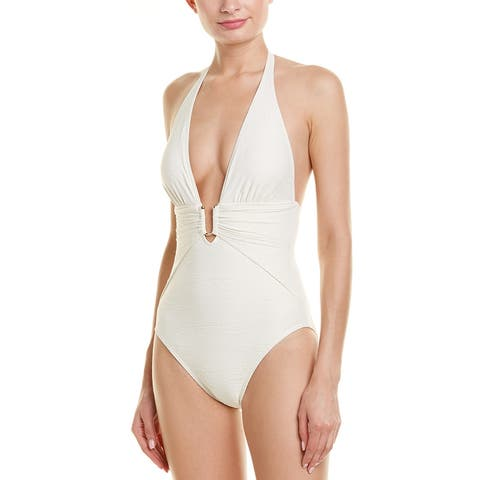 Vince Camuto Plunging One-Piece
