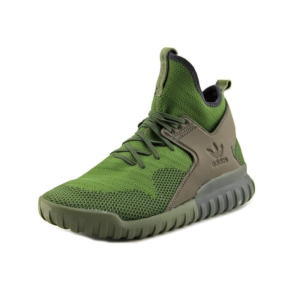 Adidas Tubular X Primeknit Men Round Toe Synthetic Green Sneakers