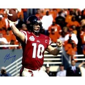 meet 39246 d3488 Eli Manning signed Ole Miss Rebels 16x20 Photo 2003 Cotton Bowlred jersey  Steiner Hologram