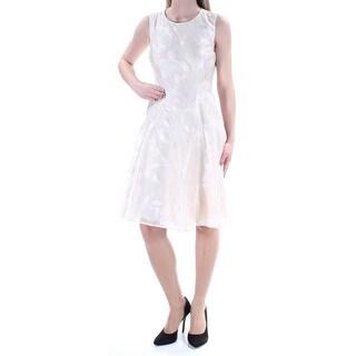TOMMY HILFIGER $139 Womens New 1404 Beige Floral Fit + Flare Dress 2 B+B