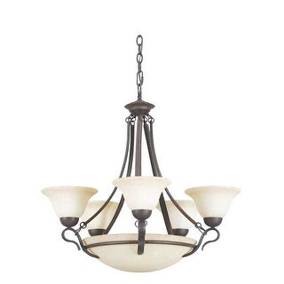 Sunset Lighting F5498 Venice 8 Light 2 Tier Chandelier