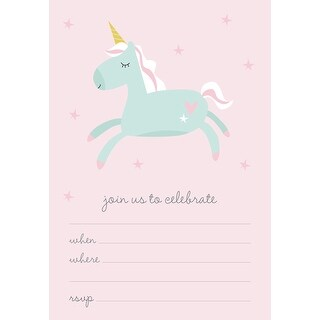 "Kaiser Style Invitation Pack 5""X7""-Unicorn"