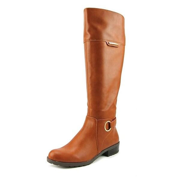 Alfani Jadah Wide Calf Women Cognac Boots