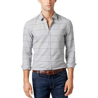Hugo Boss Green Label Bambra Slim Fit Striped Shirt Grey Medium M