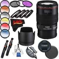 Canon EF 100mm f/2.8L Macro IS USM Lens International Version (No Warranty) Professional Accessory Combo