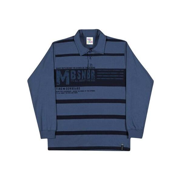 Tween Boys Long Sleeve Shirt Striped Polo Tee Pulla Bulla Sizes 12-16 Years
