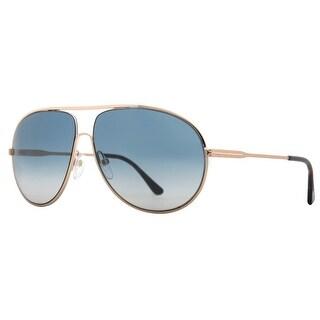 Tom Ford Cliff TF450 28P Gold Havana Blue Gradient Aviator Sunglasses - 61mm-11mm-140mm