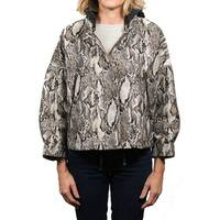 Moncler Nubia Snake Patterned 3/4 Sleeve Parka Jacket Women's
