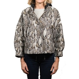 Moncler Nubia Snake Patterned 3/4 Sleeve Parka Jacket Women's