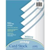 White Card Stock 40 Sheet