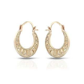 Mcs Jewelry Inc 10 KARAT YELLOW GOLD CLASSIC HOOP EARRINGS