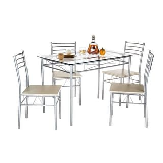 Glass Dining Room Table Set glass dining room & kitchen tables - shop the best deals for oct
