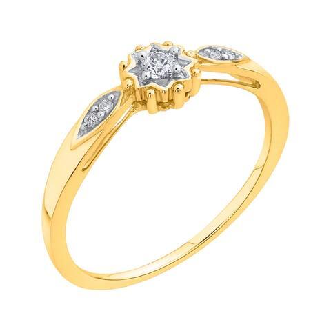 10K Yellow Gold 1/10ct TDW Diamond Fashion Ring (I-J, I1)