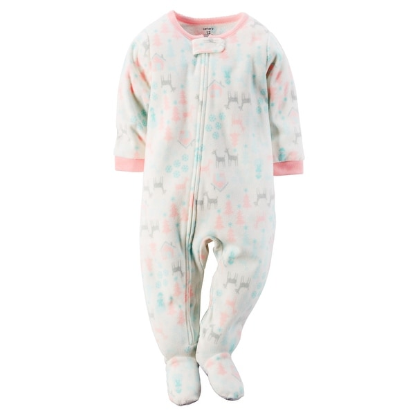 95e5a6acbb Shop Carter s Baby Girls  One Piece Footed Fleece Pajamas - 18 Months -  Free Shipping On Orders Over  45 - Overstock.com - 27286806