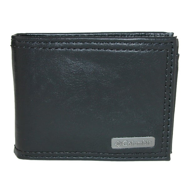 Columbia Men's Leather RFID Protected Extra Capacity Slim Bifold Wallet - one size