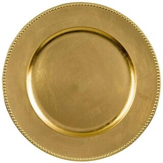 Amscan 430368 Charger 14 in. Gold Round - Pack of 6