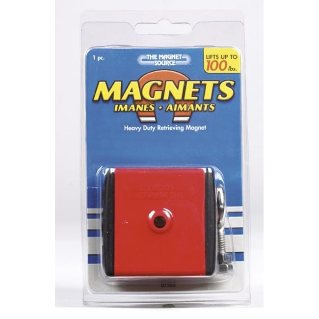 Master Magnetics 07503 Heavy Duty Retrieving Magnet With Shield, 2 x 2 x 1