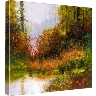 """PTM Images 9-97802  PTM Canvas Collection 12"""" x 12"""" - """"Spring Green"""" Giclee Forests Art Print on Canvas"""