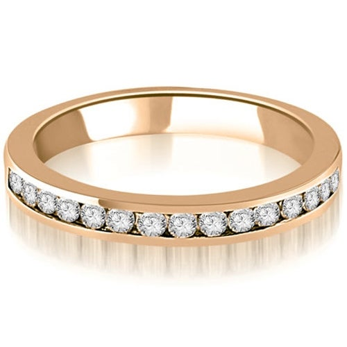 0.50 cttw. 14K Rose Gold Round Diamond Classic Channel Wedding Band