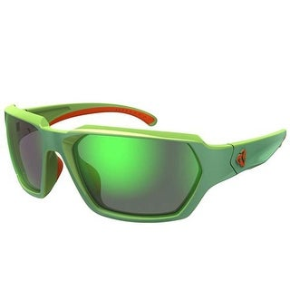 Ryders Eyewear Face R00710D Green with Red Frame Grey/Green Mirror Lens