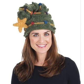 Women's Christmas Tree Hat - Soft Warm Winter Hat - Fair Trade From Peru