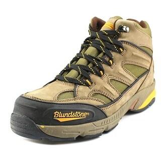 Blundstone Sports Hiker Men Steel Toe Leather Brown Work Boot