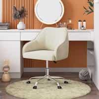 Deals on Corvus Braff Contemporary Velvet Fabric Home Office Chair
