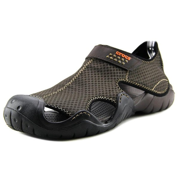 Crocs Swiftwater Mesh Sandal Men Round Toe Synthetic Brown Sport Sandal