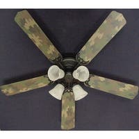 Cool Sand Camouflage 52in Ceiling Fan Light Kit - Multi