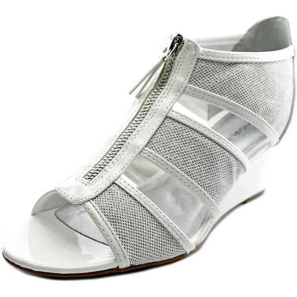 Bandolino Opie Women Open Toe Synthetic Wedge Sandal