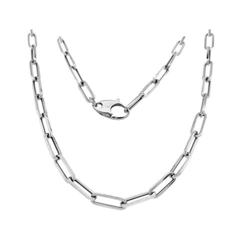 """14K Gold 4.5MM Link Paperclip Link Chain Necklace, 20""""by Noray Designs"""