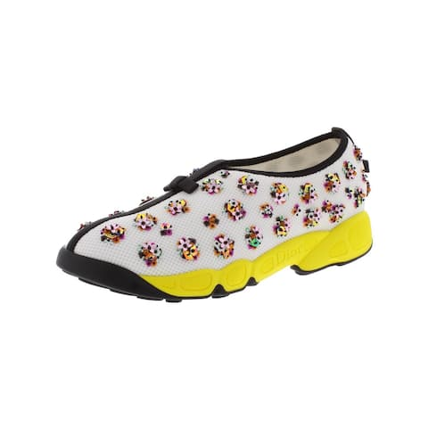 Dior Womens Fusion Flower Fashion Sneakers Embellished Slip On
