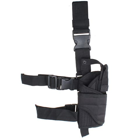 Image Tactical Army Pistol Gun Drop Leg Thigh Holster Black - s