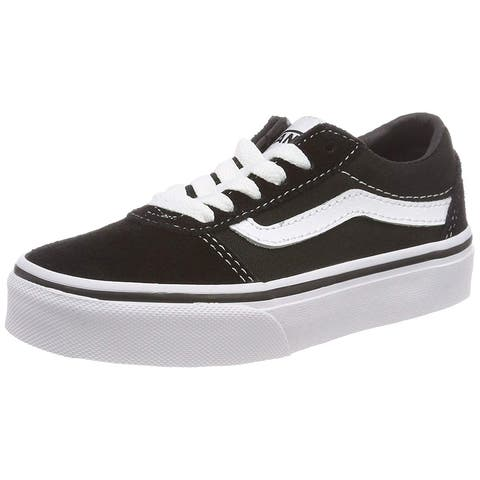 dff18252545 Vans Kids Ward Lo Canvas Shoes Black White 8 M Us