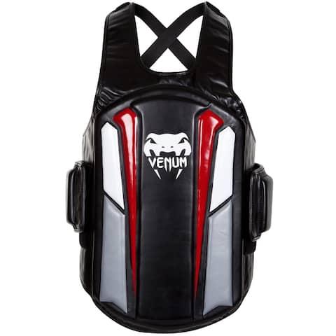 Venum Elite Skintex Leather Body Protector - Black/Ice/Red