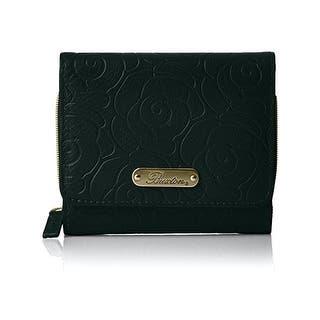 Women'S Long Leaf Wallet Leather Card Holder Purse Zipper Buckle Elegant Clutch Wallet Handbag · Quick View