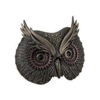 Metallic Bronze Steampunk Owl Head Wall Mask