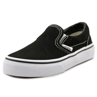 Vans Classic Slip-On Youth Round Toe Canvas Black Sneakers