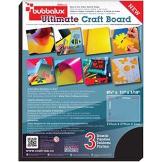 "Midnight Black - Bubbalux Ultimate Creative Craft Board 8.5""X11"" 3/Pkg"
