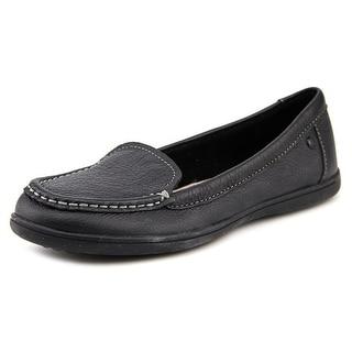 Hush Puppies Ryann Claudine Women N/S Moc Toe Leather Black Loafer