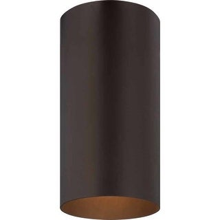 Volume Lighting V9616 1 Light Flush Mount Outdoor Ceiling Fixture with Metal Cylinder Shade