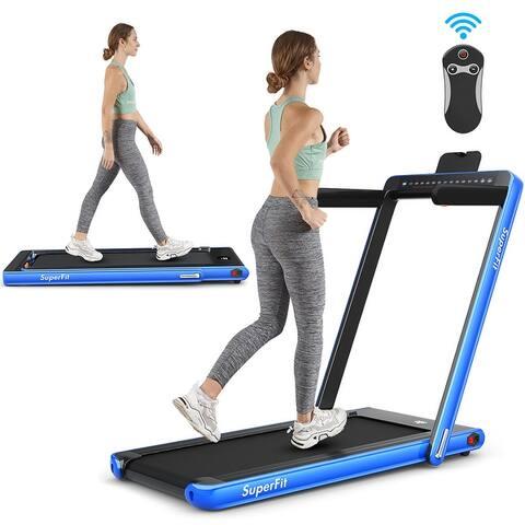 SuperFit 2.25HP 2 in 1 Dual Display Folding Treadmill Jogging Machine