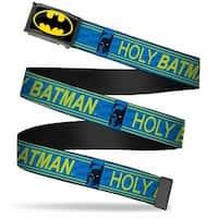 Batman Fcg Black Yellow Chrome Batman Face Holy Batman Bat Monogram Web Belt